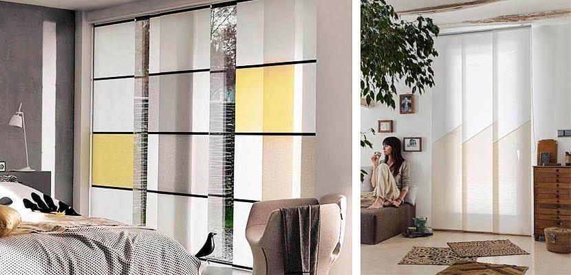 Paneles japonese paneles japoneses pintados telas para - Paneles japoneses cortos ...