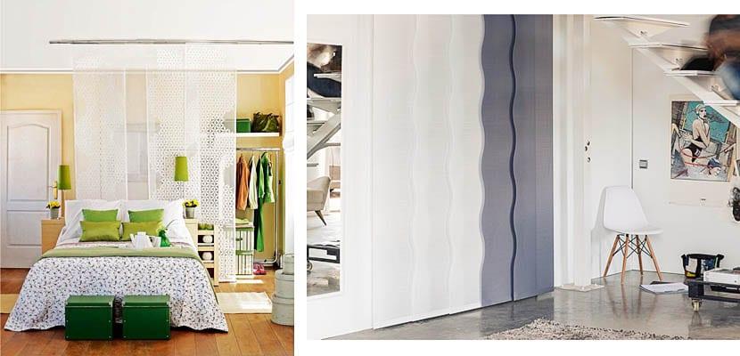Paneles japoneses como puertas de armario