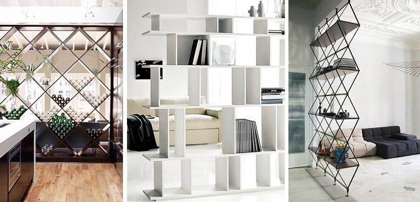 Separadores de ambientes para redistribuir tu hogar - Estanterias separadoras de ambientes ...