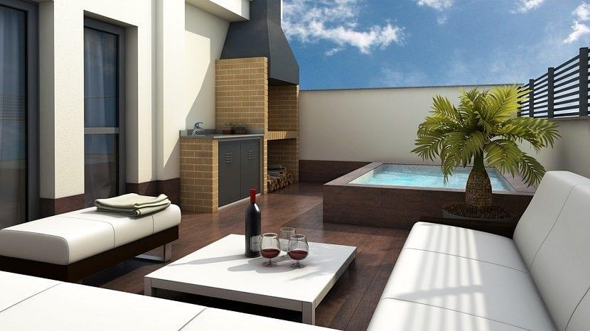 Ideas para instalar un jacuzzi en el exterior de tu hogar - Jacuzzi para terrazas ...