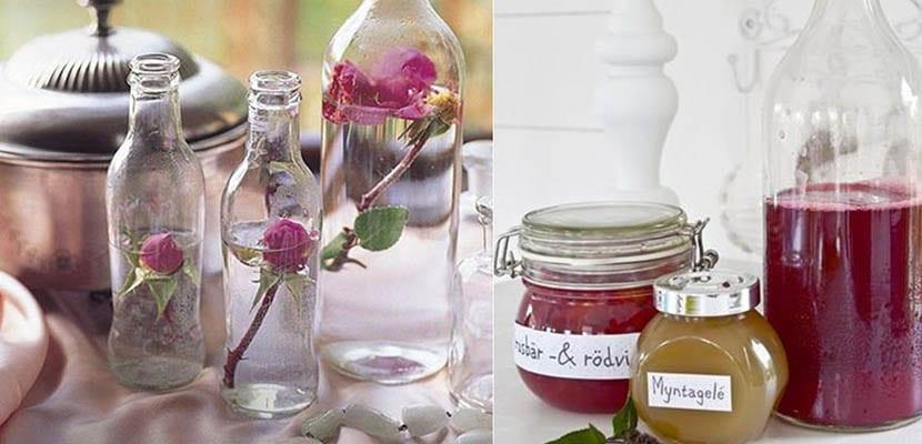 Ideas decorativas con botes de cristal para el hogar for Ideas decorativas hogar