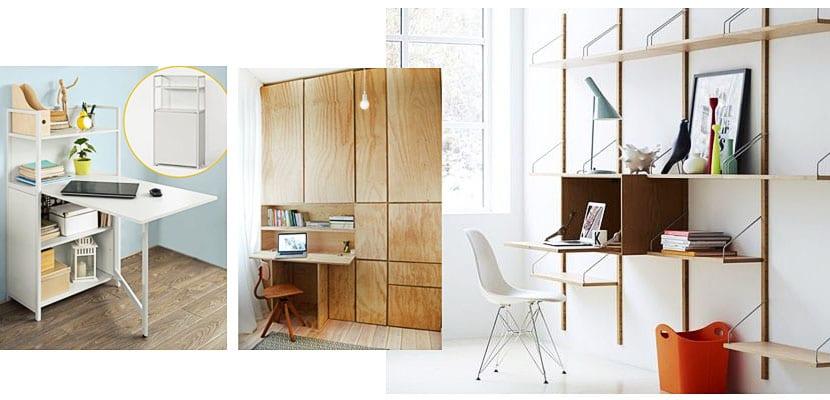Escritorios plegables para ahorrar espacio en la habitaci n for Escritorios para salon