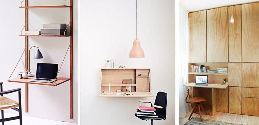 Escritorios plegables para ahorrar espacio en la habitacin