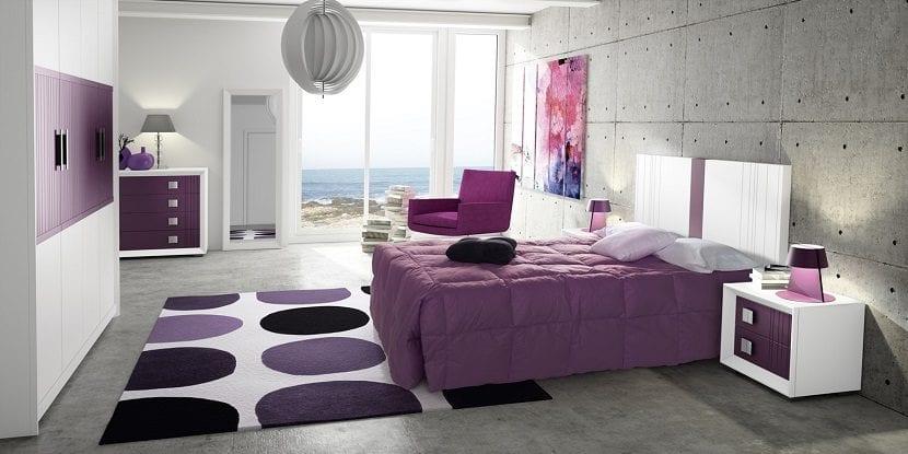 El color malva en la decoraci n - Dormitorio malva ...