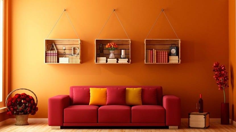 Ideas para decorar la casa con baldas de madera - Decoracion de paredes con madera ...