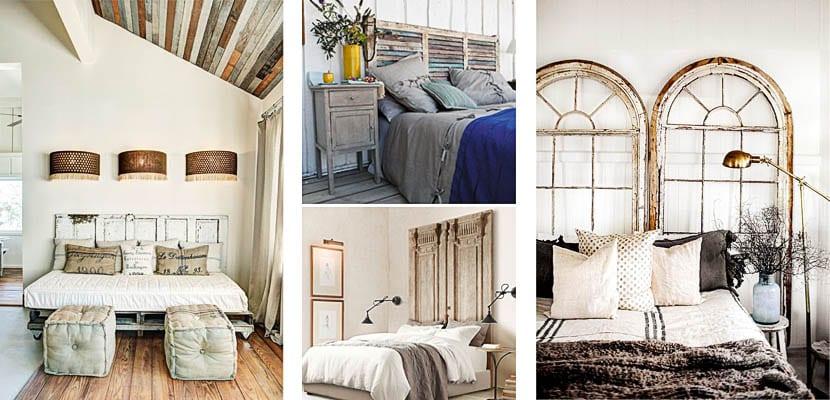 Puertas y ventanas como cabeceros de cama originales