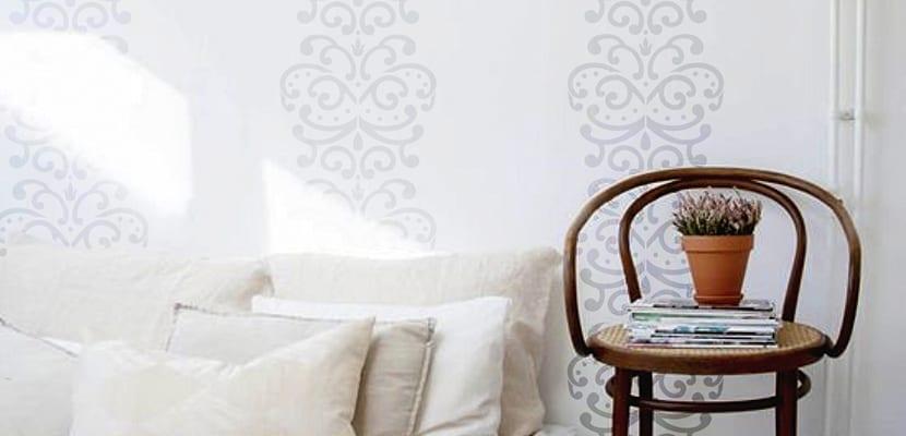 Plantillas para pintar c mo usarlas e ideas para decorar - Plantillas para paredes ...