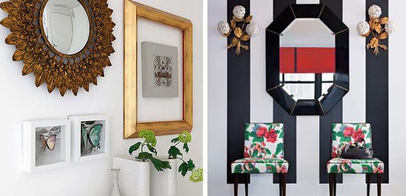 Recibidores originales para la entrada del hogar for Espejos originales recibidor