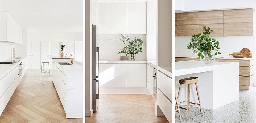 Ideas para decorar cocinas blancas de distintos estilos for Cocinas claras modernas