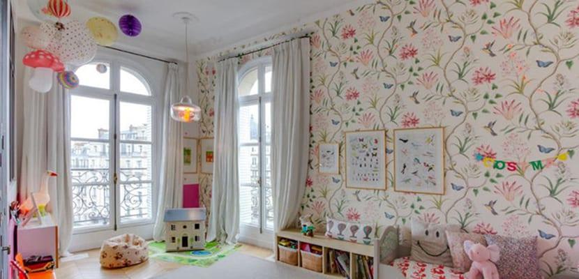 Flores vintage cuarto infantil
