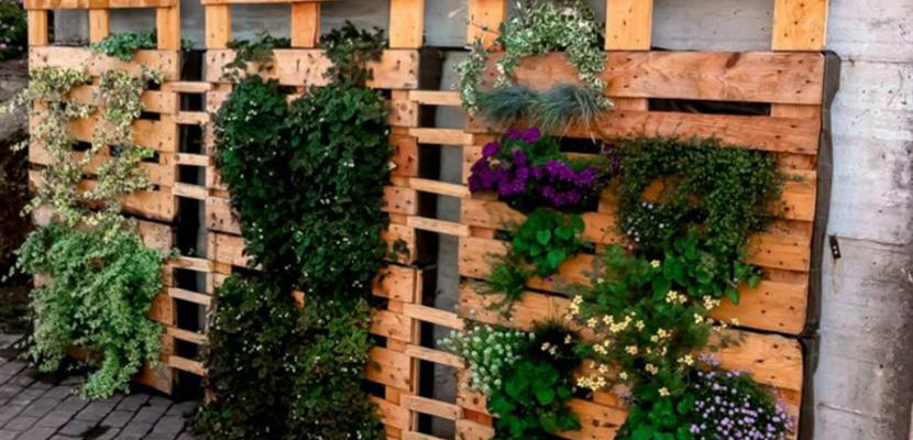 Jardines con palets