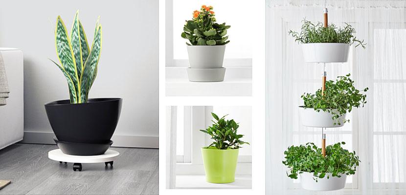 Maceteros de ikea para vestir tus plantas de interior - Maceteros de pie ...