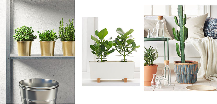 Maceteros de ikea para vestir tus plantas de interior - Salon de balcon ikea ...