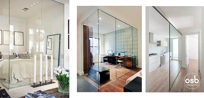 Paredes de cristal, gana amplitud y luminosidad en tu hogar