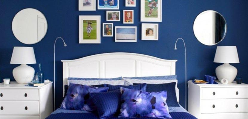 Azul añil en el dormitorio