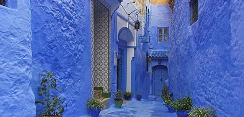 Decora el hogar en el color azul a il for Cortinas marroquies