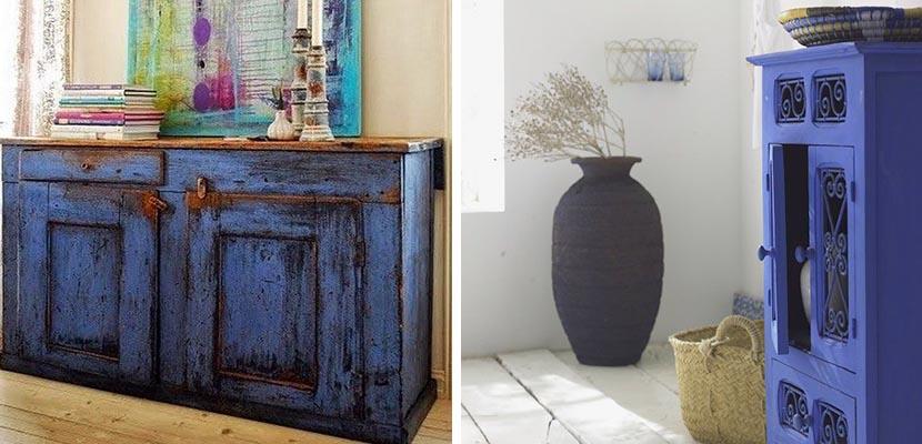 Azul añil en muebles
