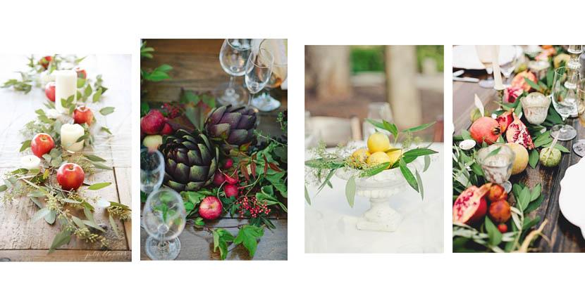 Ideas de centros de mesa de diferentes estilos for Centros de frutas
