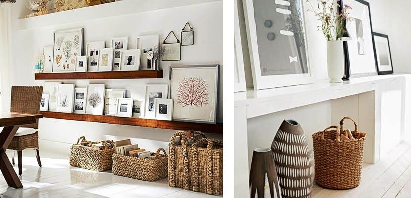 Cestas de mimbre pr cticas y decorativas para tu hogar - Como adornar una cesta de mimbre ...