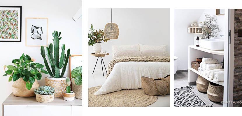 Cestas de mimbre pr cticas y decorativas para tu hogar Decorar cestas de mimbre