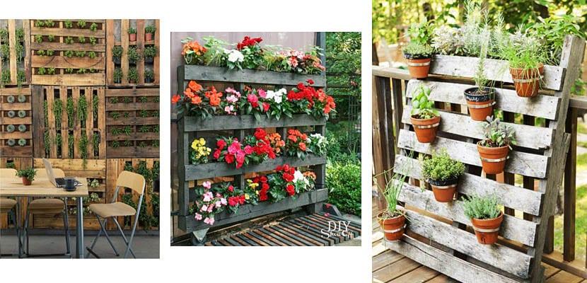 Jardineras con palets para la terraza o jard n for Palets decoracion jardin
