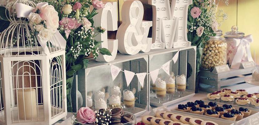 Mesa dulce en bodas