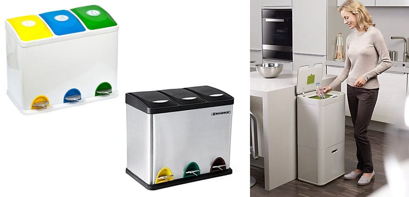 Cubos de basura compartimentados