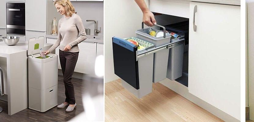 Cubos de basura para organizar la basura de forma limpia for Reciclar muebles de la basura