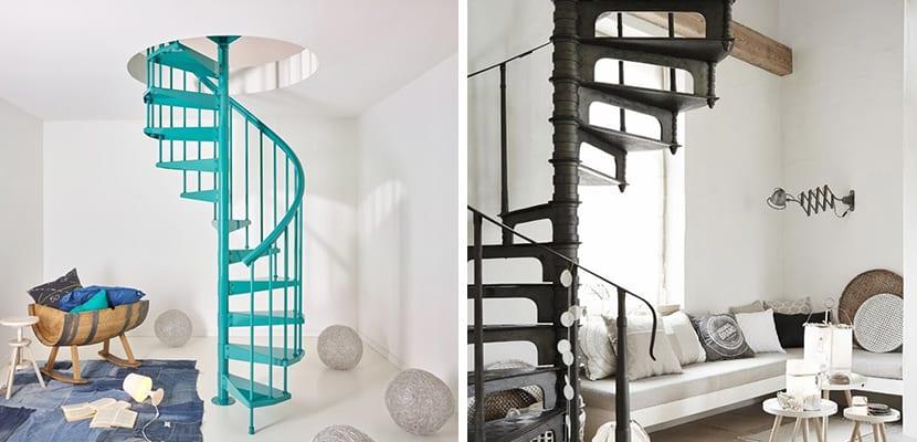 Escaleras de caracol de metal