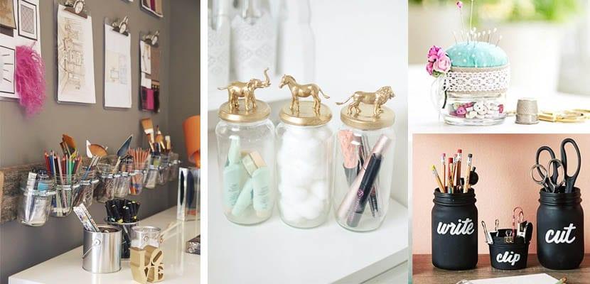 Organizar en tarros de cristal
