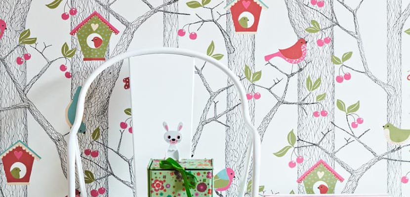 Papel pintado infantil ideas para decorar el cuarto de for Papel pintado ninos