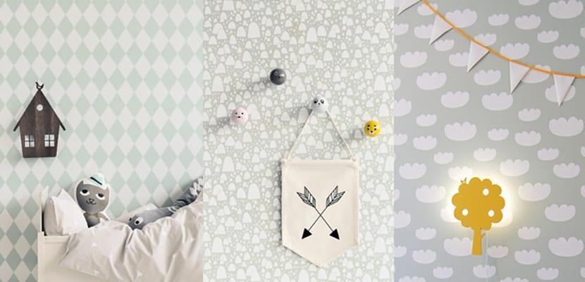 Papel pintado infantil ideas para decorar el cuarto de - Papeles infantiles para paredes ...