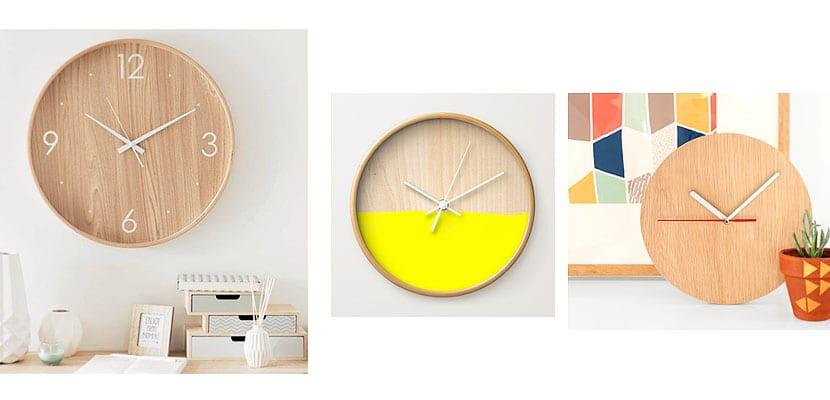 Reloj de pared minimalista en madera