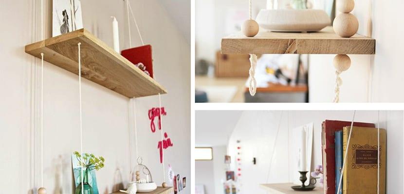 Utilizar las baldas de madera para decorar el hogar - Baldas de madera ...