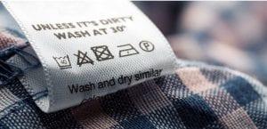 Etiqueta ropa: Símboos de lavado