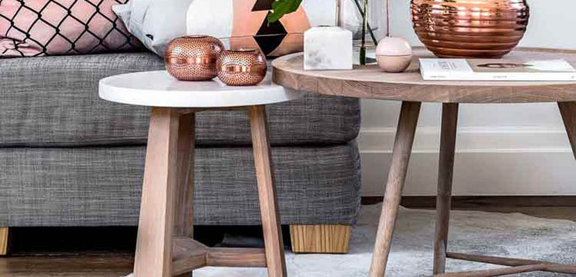 Mesas nido de estilo nórdico