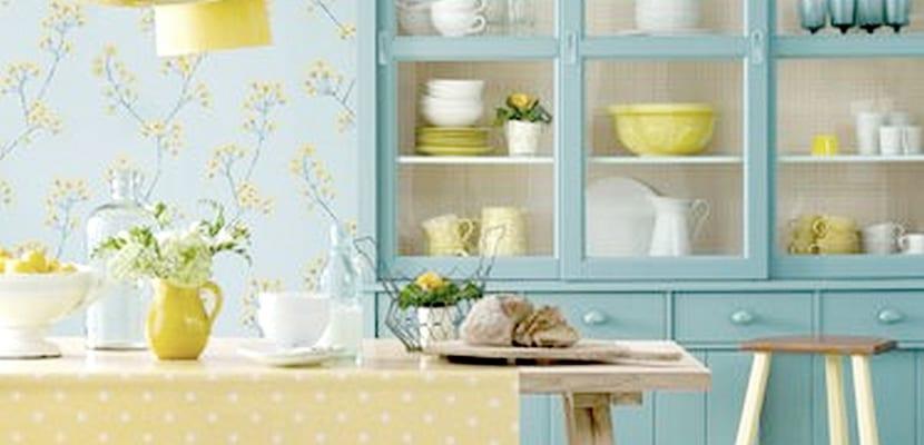 Decorar el hogar con papel pintado vintage - Papel pintado en cocina ...