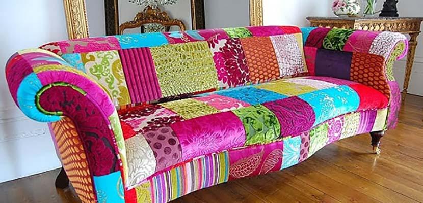 Sofá de patchwork