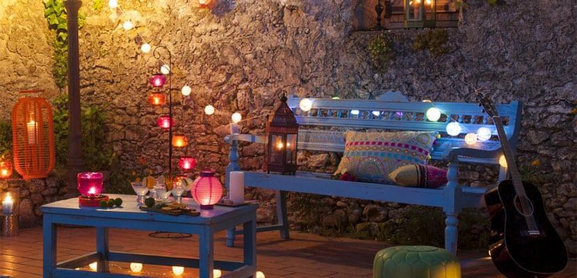 Ideas para decorar las terrazas chill out for Iluminacion terraza