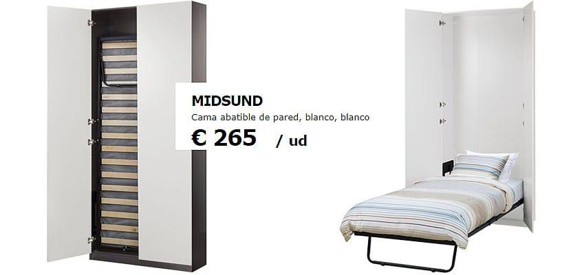 Cama abatible Midsund de Ikea