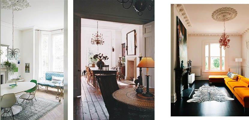 Casas victorianas - lamparas colgantes