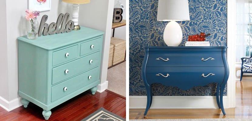 Decorar el hogar con originales c modas antiguas - Comodas pintadas ...
