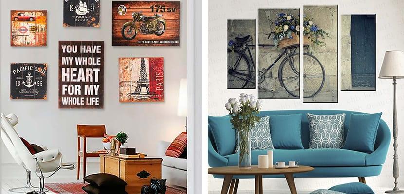 decorar el hogar con bonitos cuadros vintage