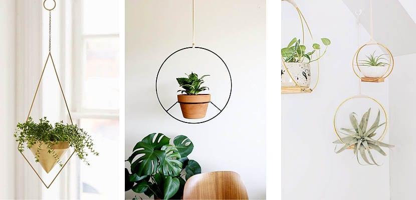 Macetas colgantes minimalistas