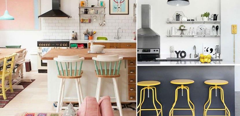 Utilizar los taburetes altos en el hogar for Taburetes altos para cocina