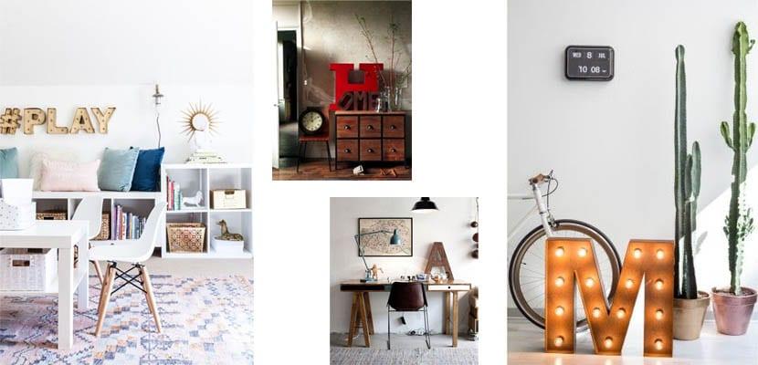Ideas para decorar con letras tu hogar