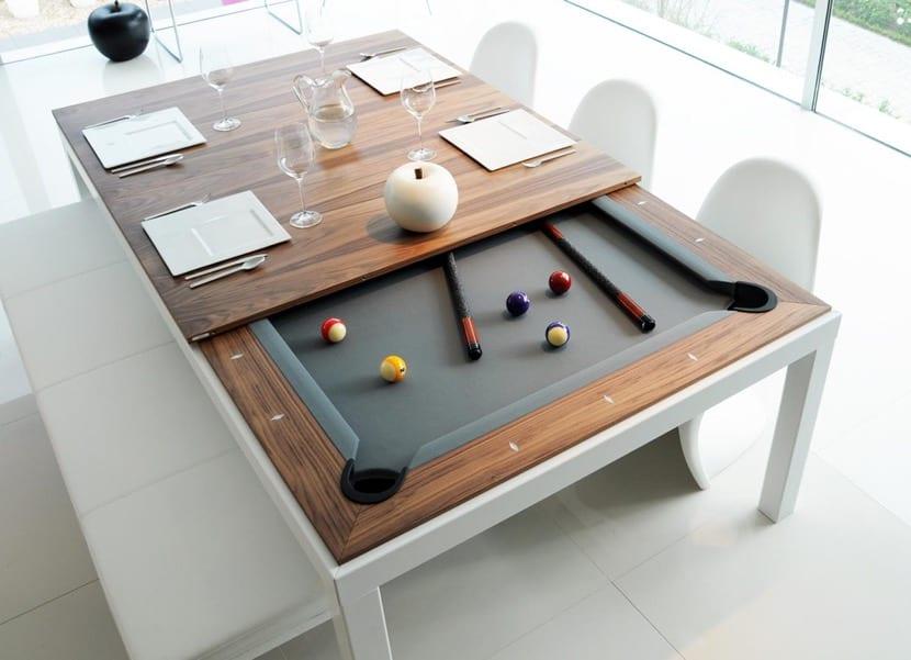 mesa de billar para la decoración