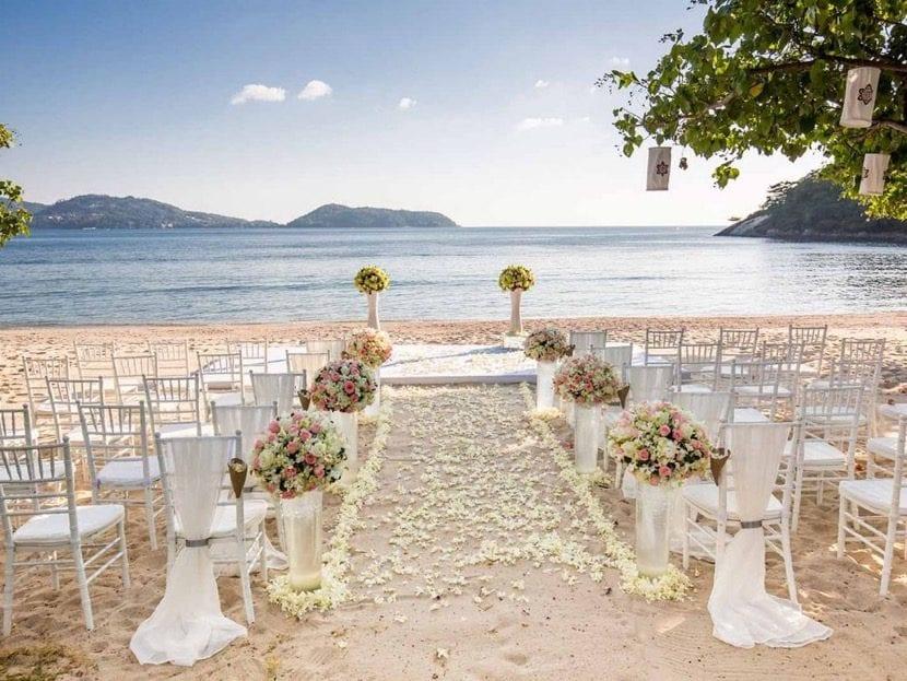 Matrimonio Simbolico En La Playa : Temas para decorar una boda en la playa