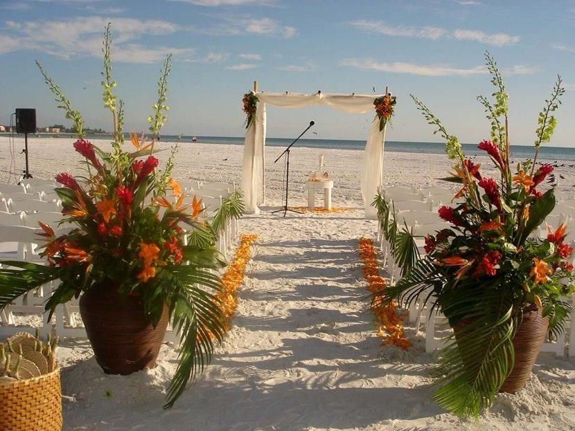 boda con tema tropical