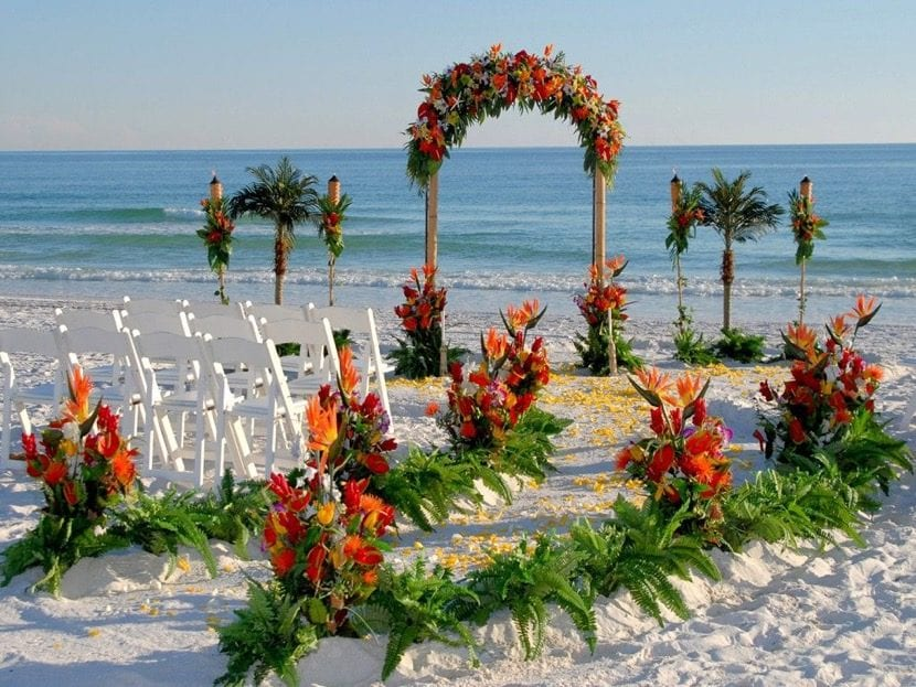 Matrimonio Tema Tropical : Cómo decorar una boda con temática tropical en la playa
